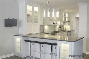Armoires blanche comptoir gris recherche google for Decoration pour jardin exterieur 5 cuisine quartz noir