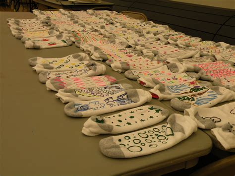 students   skid socks  local nursing home