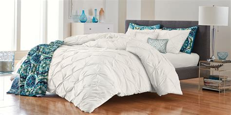 solid white comforter set colormate solid pintuck comforter set white shop your way shopping earn points on