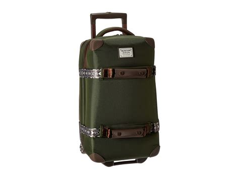 Burton Wheelie Flight Deck Travel Bag by Burton Wheelie Flight Deck Travel Luggage Rifle Green