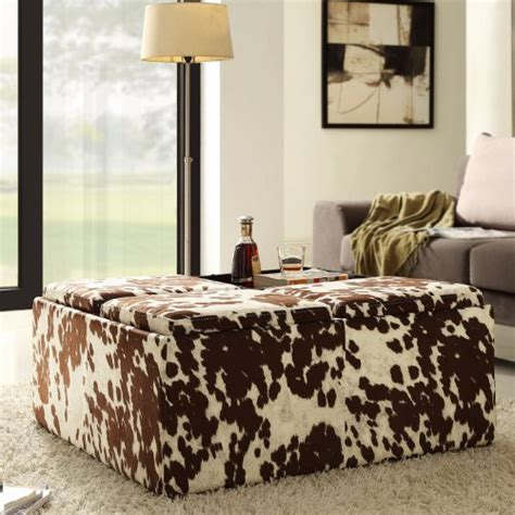 Cowhide Storage Ottoman by 5 Best Cowhide Ottoman A Unique To Your Room