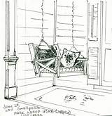 Porch Clip Swing Clipart Backyard Painting Coloring Sketch Pages Plein Air Persing Pauline Writing Natural History Template Ready Porches Templates sketch template