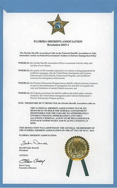 Resolution Government Resolutions Association Sheriffs Proclamations Florida