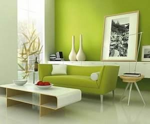Wandfarbe Für Wohnzimmer : gr nt ne wandfarbe sorgen f r eine frische und ruhige zimmeratmosph re ~ One.caynefoto.club Haus und Dekorationen