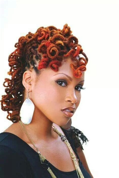 colored curly locs dreadlocks   natural hair