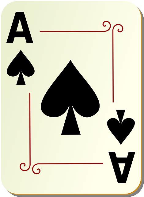 spades ace card  vector graphic  pixabay