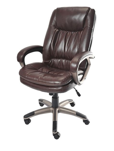 fosner high back chair realspace fosner high back bonded leather chair executive