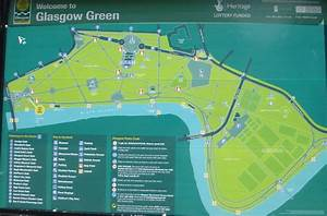 Photographs And Map Of The Walkway Alongside The River Clyde From Glasgow Green To The
