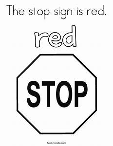 The stop sign is red Coloring Page - Twisty Noodle