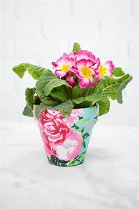 Fabric, Covered, Flower, Pots