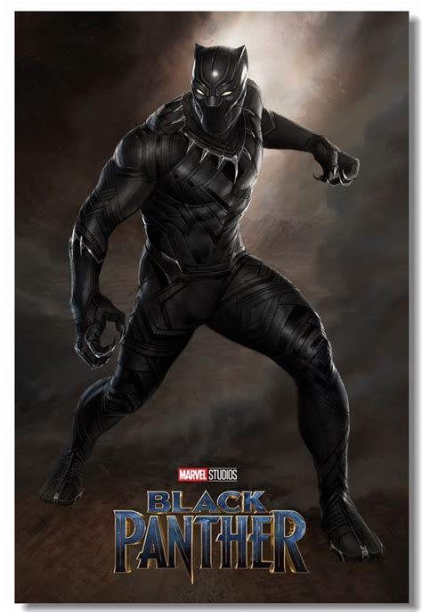 custom canvas wall paintings marvel black panther poster