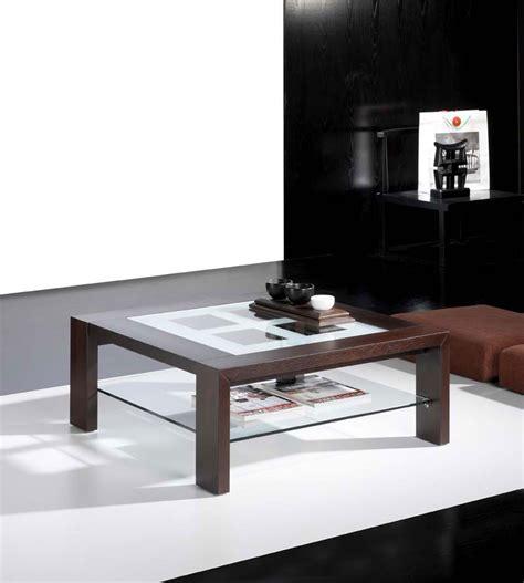 les concepteurs artistiques table basse carree wenge verre