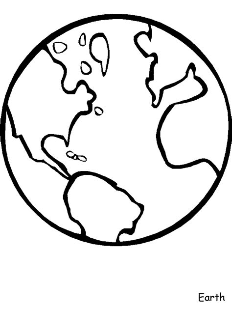 earth planet coloring page