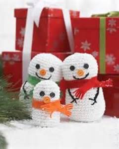 Crochet Christmas Snowman Crafts