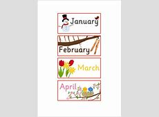 EYFS, KS1 Months of the Year Labels Free Early Years