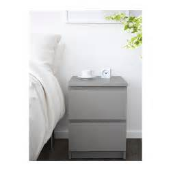 malm chest of 2 drawers grey 40x55 cm ikea