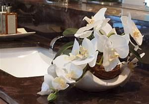 Decoration florale ideale lorchidee chez vous for Salle de bain design avec décoration florale mariage
