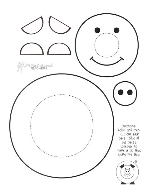 Pig Template For Preschoolers by Paint A Pig Craft Project Squarehead Teachers