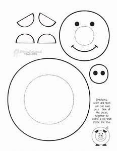 Paint a pig craft project squarehead teachers for Pig template for preschoolers