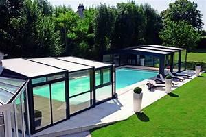 Abri Haut Piscine : abri piscine haut mod les t lescopiques coulissants ~ Premium-room.com Idées de Décoration
