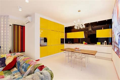 yellow kitchen colors  bright modern kitchen design