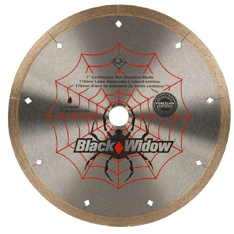 qep 7 in black widow micro segmented blade for
