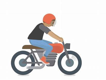 Motorcycle Catch Animated Riding Guy Dribbble Character