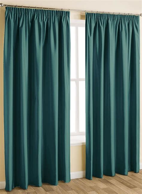 1000 ideas about teal pencil pleat curtains on