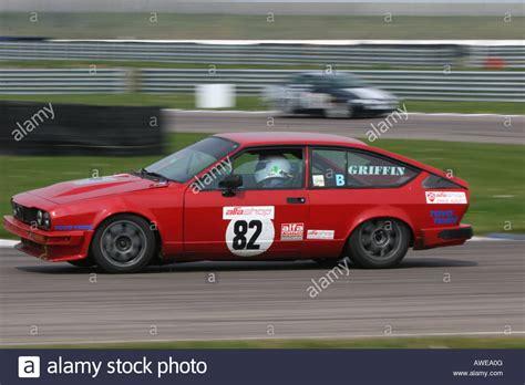 Alfa Romeo Race Car by Alfa Romeo Gtv 6 Race Car Stock Photo 16555167 Alamy
