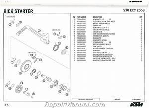 2008 Ktm 530 Exc Engine Spare Parts Manual