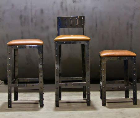 hand  industrial pub height table bar stools