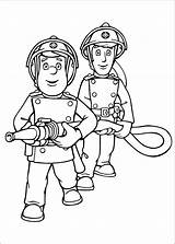 Firefighters Coloring Pages Fireman Print Sam Drawing sketch template