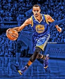 Stephen Curry Shooting Basketball