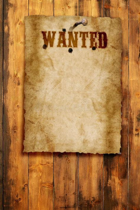Wanted poster stock illustration. Illustration of ...