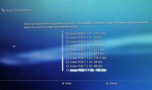Settings For Ps4  U0026 Home Theatre Optical Sound