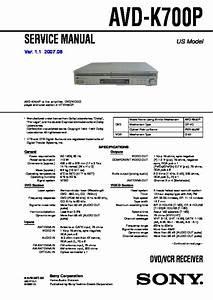 Sony Avd-k700p  Ht-v700dp Service Manual