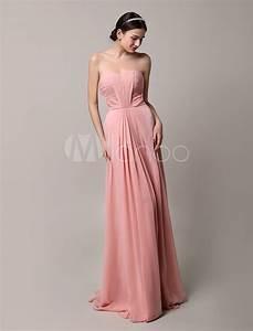 robe demoiselle d39honneur en chiffon rose plisse bustier With robe demoiselle d honneur fille rose