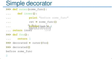 Decorators In Python - what is the use of decorator in python