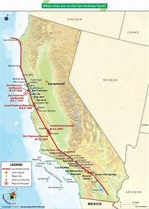 What Cities Are On The San Andreas Fault