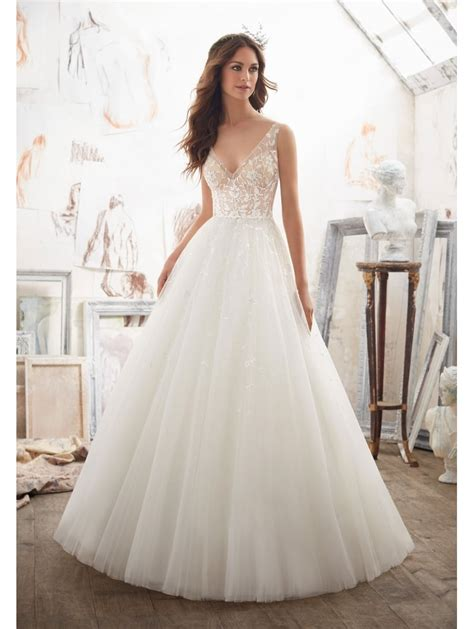 Mori Lee 5515 Matilda Floral Detailed Ball Gown Style