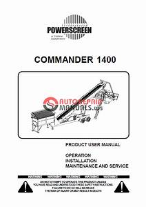 Powerscreen Commander 1400 User Manual