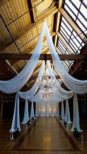 An, Absolutely, Stunning, Ceiling, Drape, Design, With, Hanging, Crystal, Chandeliers, At, Bridgeport, Art