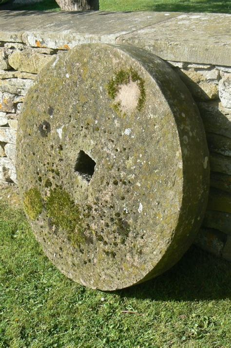stone wheel holloways garden antiques  ornaments