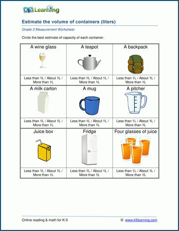 liters and milliliters worksheet the best worksheets image