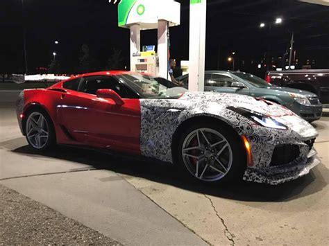 chevy corvette zr spotted   camo proves