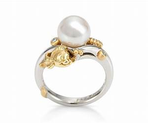 Little mermaid pearl ring bee jeweled pinterest for Little mermaid wedding ring