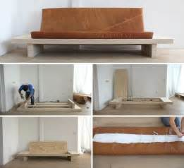 Diy Concrete Planters by Learn How To Create Your Own Diy Modern Wood Couch With