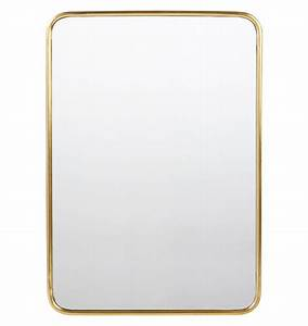 "30"" x 42"" Metal Framed Mirror - Rounded Rectangle"