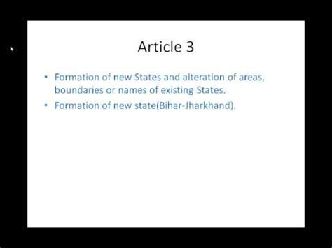 Indian Constitution  Part 1  Article 1 To 4, Constitution Of India  Part 1  Article 1 To 4