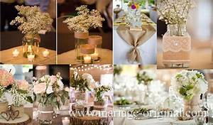 Centre De Table Champetre : centre de table de mariage ~ Melissatoandfro.com Idées de Décoration